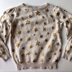 H&M Gold Star Sweater (Girls 3T)